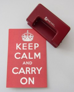 keep calm hole punch