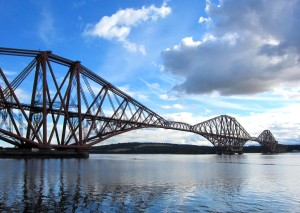 The Forth Bridge between Edinburgh and Fife  (Photo by Lauren Hall-Lew)
